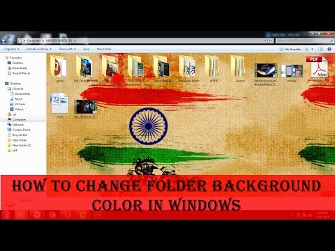 How to change Folder Background Color & Icon in Win 7, Win 8 & Win 10❓❓- in (Hindi)