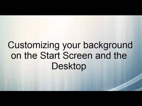 Windows 8 Tips Customizing your background