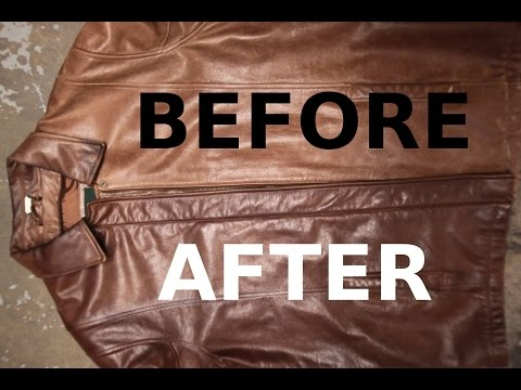 How to restore a brown leather jacket