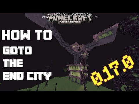 HOW TO GOTO/FIND THE END CITY/ENDER BUILDINGS IN MCPE 0.17.0|Minecraft PE (MCPE) How To #48