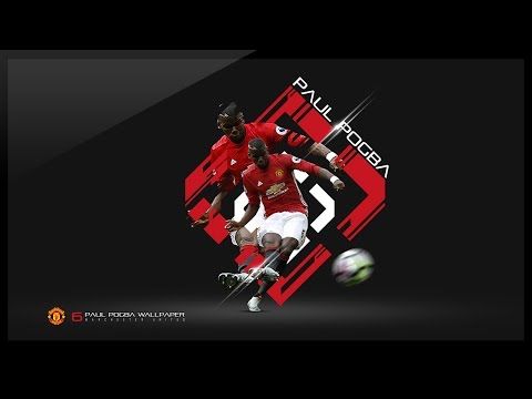 Photoshop Tutorial - Design a Football Wallpaper - Paul Pogba
