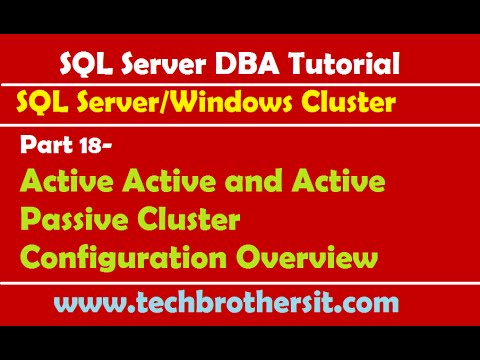 SQL Server DBA Tutorial 18- Active Active and Active Passive Cluster Configuration Overview