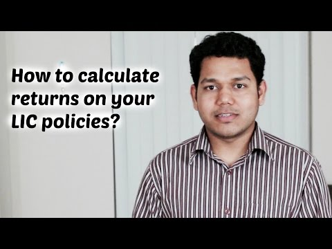 How to calculate expected returns on LIC policies?