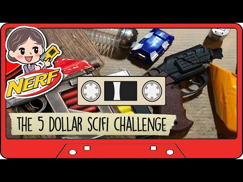 THE $5 SCIFI BLASTER CHALLENGE BUILD - Sci-fi prop for $5