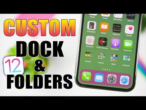 NEW Custom DOCK & FOLDERS Background On iOS 12 (NO Jailbreak)