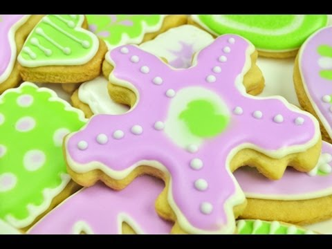 How To Make Butter Cookies with Royal Icing, part 1