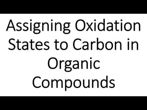 Assigning Oxidation States to Carbon in Organic Compounds