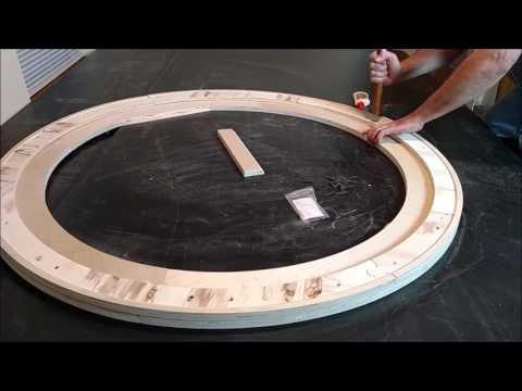Assembly of round canvas stretcher frame by Crone's Custom Woodworking