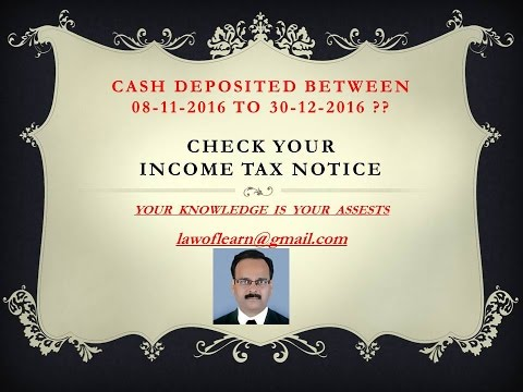 CHECK YOUR - INCOME TAX NOTICE