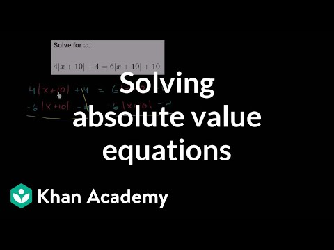 Absolute value equation with no solution | Linear equations | Algebra I | Khan Academy