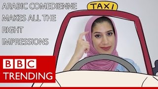 Young comedian Maha Jaafar takes a humorous look at issues affecting Arab women - BBC Trending