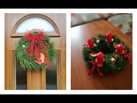 DIY Advent wreath | How to make advent wreath | Christmas decoration