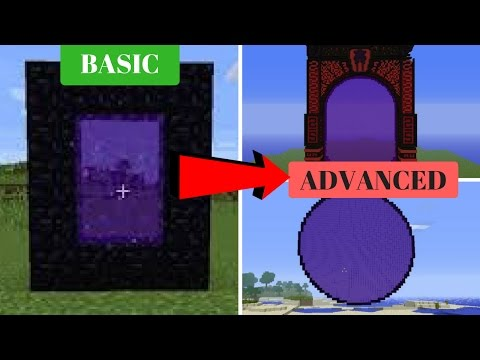 Nether Portal How TO Make BASIC to ADVANCED 2017