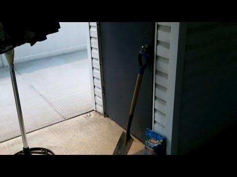 Repairing a Storage Shed Door