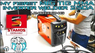 Unboxing My New Toy!!! Stamos 250a Mig Mag Mma Inverter Welder From Germany
