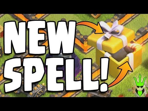 NEW SPELL IN CLASH OF CLANS! - WHAT'S IN THE GIFT BOX? - Clash of Clans - Birthday Boom Spell