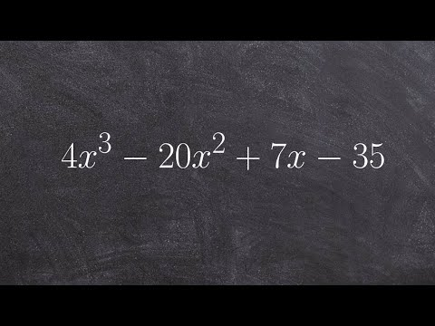 Factoring a third degree polynomial with four terms by grouping