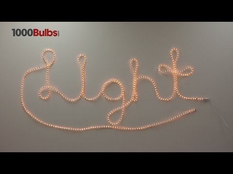 How To Create Rope Light Word Art