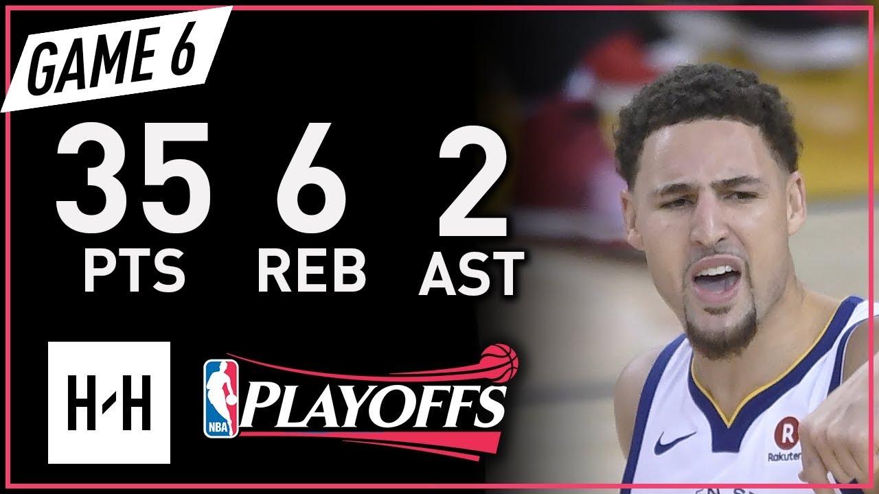 Klay Thompson Full Game 6 Highlights vs Rockets 2018 NBA Playoffs WCF - 35 Pts, 6 Reb, 2 Ast!
