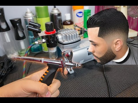 How to Mix and Apply Airbrush Hairline/Beard Enhancement(Kiss Express Color/Dye)