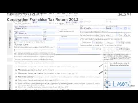 Form M4 Corporation Franchise Tax Return