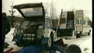 Swedish Rally 1986.  WRC