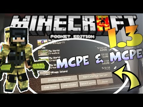 MCPE 1.3 OUT!?  - MINECRAFT PE 1.3 PC MOD REVIEW - ( HOW TO PLAY MCPC ON MCPE )