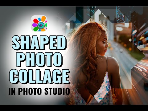 Shaped Photo Collage  in Photo Studio | Photo Editor | Edit Photos for Instagram