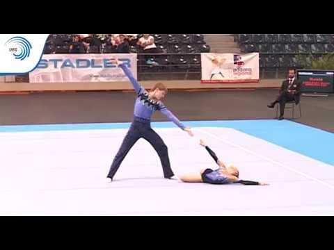 Polina Isakova & Georgiy Pataraya (RUS) - 2009 Acrobatic European Age Group silver medallists