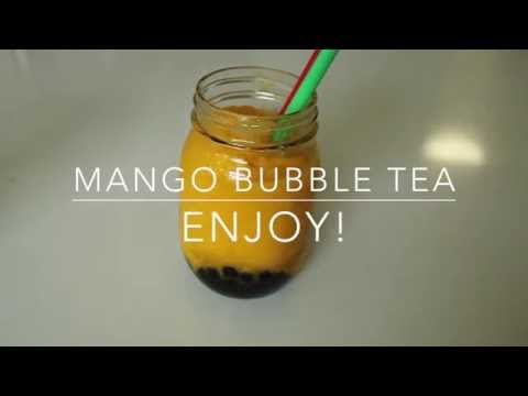 How To Make Mango Bubble Tea With Pearls!
