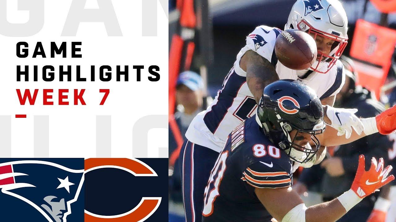 Patriots vs. Bears Week 7 Highlights | NFL 2018