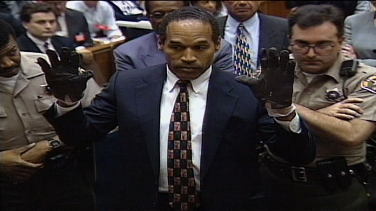 O.J. Simpson Infamously Trying On Gloves At Trial