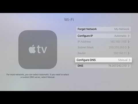 AppleTV (new version) Unblocking Setup Instructions (DNS)