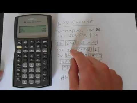 TI BA II Plus NPV Calculation