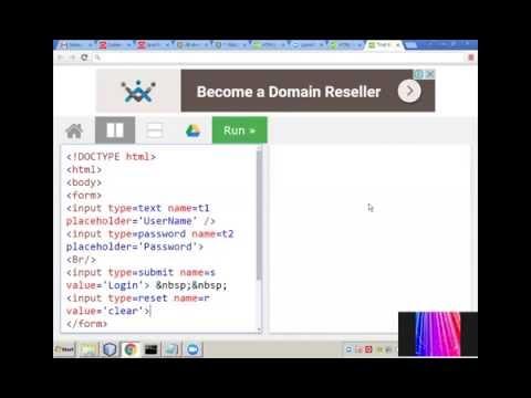 LOGIN FORM IN HTML5