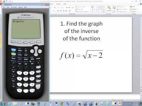 Technology in College Algebra - Inverses of Functions - Graph - TI-84 Plus