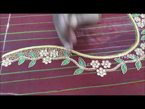 aari work blouse designs for beginners | simple maggam work blouse designs | latest blouse designs