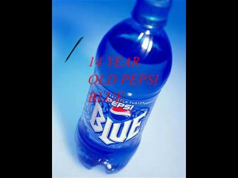 Drinking a 14 year old bottle of Pepsi Blue