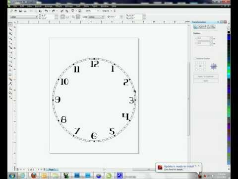 Creating Clock Faces in Corel Draw - Method #2 -