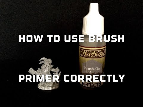 How To Use Brush On Primer To Get A Smooth Finish : Brush Basics
