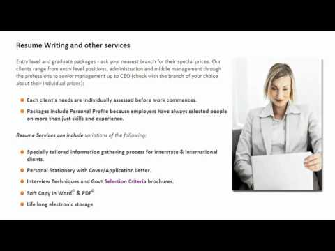 Successful Resumes - Resume Services Overview