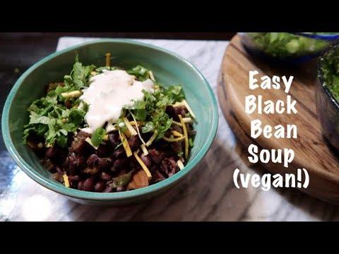 Simply Delicious Black Bean Soup (vegan!)