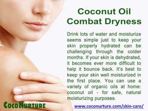 virgin coconut oil on skin