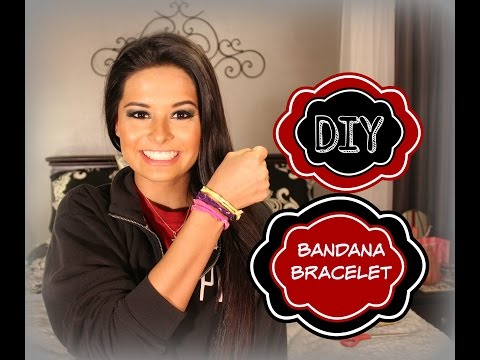 DIY Bandana Bracelet   Madison Danielle