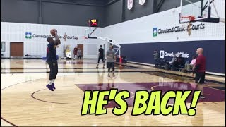 Isaiah Thomas IS BACK! Playing 4 on 4 With Tristan Thompson