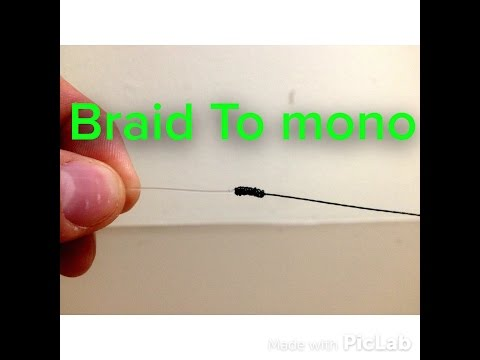 How to tie BRAIDED fishing line to FLUOROCARBON LEADER- easiest and smallest knot