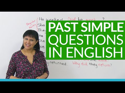 How to ask questions in the PAST SIMPLE tense