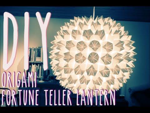 DIY Origami Fortune Teller Lantern