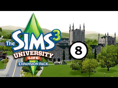 Let's Play: The Sims 3 University Life Part 8: Improving & learning new skills (without commentary)