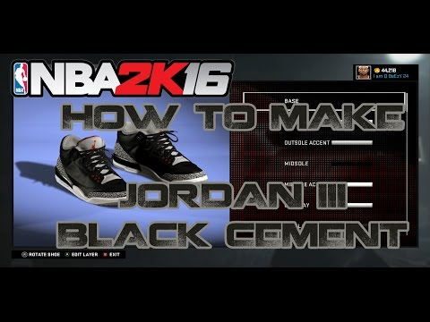 NBA 2K16 CUSTOM SHOES | HOW TO MAKE CUSTOM SHOES: AIR JORDAN 3(III)